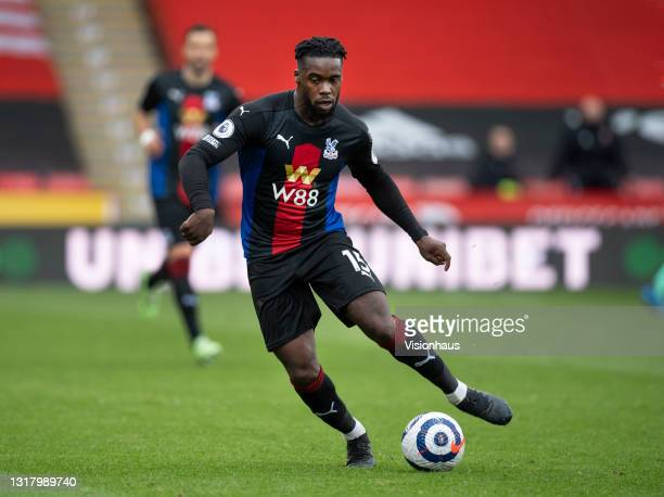 Jeffrey Schlupp of Crystal Palace in action during the Premier League match between Sheffield United and Crystal Palace at Bramall Lane on May 8,...