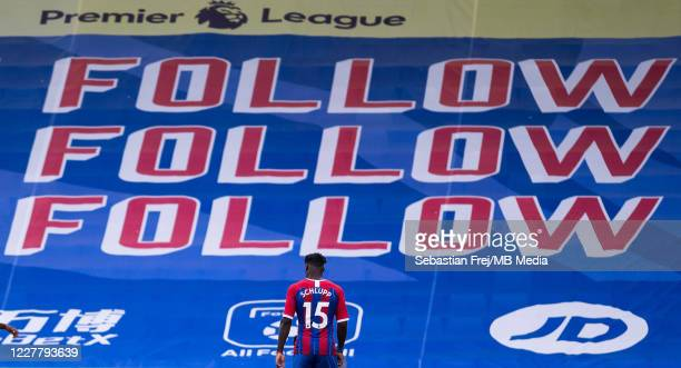 Jeffrey Schlupp of Crystal Palace looks on during the Premier League match between Crystal Palace and Tottenham Hotspur at Selhurst Park on July 26...