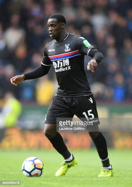 Jeffrey Schlupp of Crystal Palace looks on during the Premier League match between Burnley and Crystal Palace at Turf Moor on September 10 2017 in...