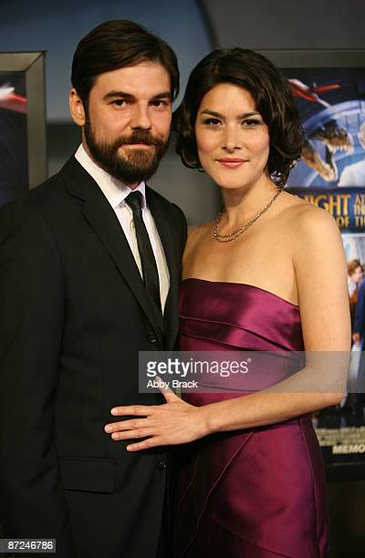 Jeffrey Shagawat and Mizuo Peck attend the premiere of Night At The Museum Battle Of The Smithsonian at the National Air and Space Museum on May 14...