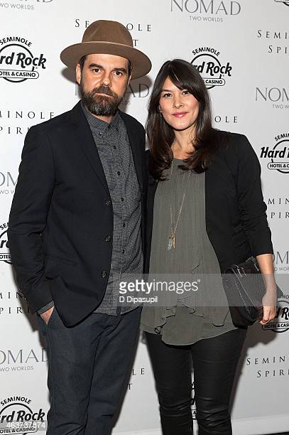 Jeffrey Shagawat and Mizuo Peck attend theSeminole Spirit Art Exhibition Party at Stephen Weiss Studio on February 17 2015 in New York City