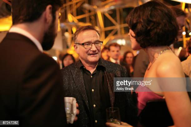 Jeffrey Shagawat Robin Williams and Mizuo Peck attend the party following the premiere of Night At The Museum Battle Of The Smithsonian at the...