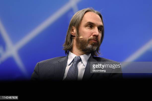 Jeffrey Sherman, deputy chief investment officer of DoubleLine Capital LP, speaks during the Skybridge Alternatives conference in Las Vegas, Nevada,...