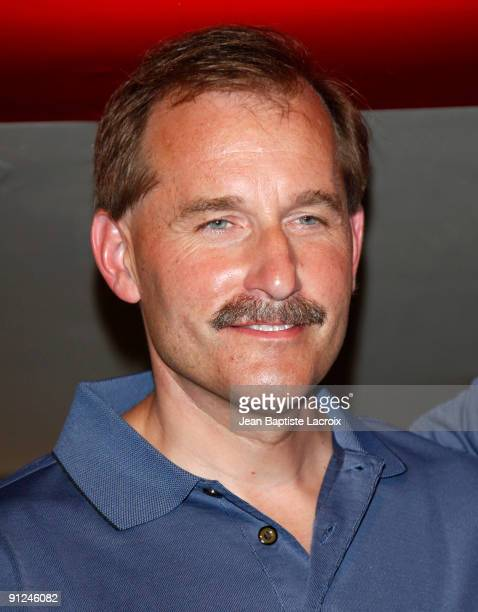 Jeffrey Skiles attends the Harrison Ford EAA Young Eagles press conference at the Santa Monica Airport on September 29 2009 in Santa Monica California