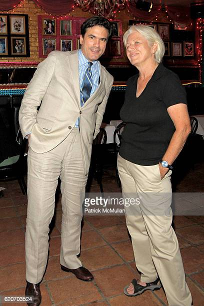 Jeffrey Slonim and Ann Northrop attend LISA ANASTOS and HUNT SLONEM BIRTHDAY PARTY at Lipps on July 24 2008 in New York City