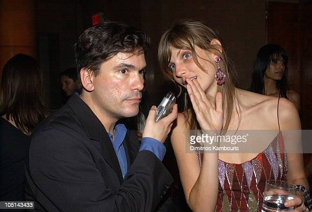 Jeffrey Slonim interviews Angela Lindvall during 2003 Viva Glam Casino to Benefit DIFFA Sponsored by MAC at The Regent Wall Street in New York City...