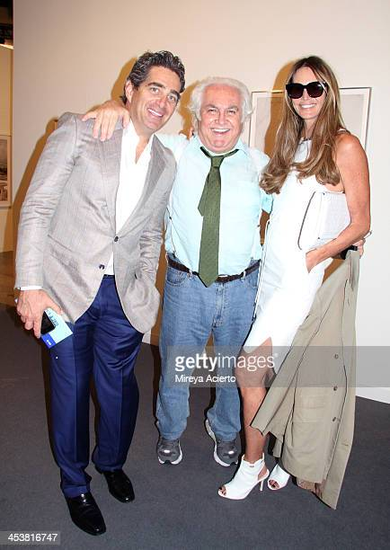 Jeffrey Soffer gallerist Tony Shafrazi and Elle Macpherson attend Art Basel Miami Beach 2013 at the Miami Beach Convention Center on December 5 2013...