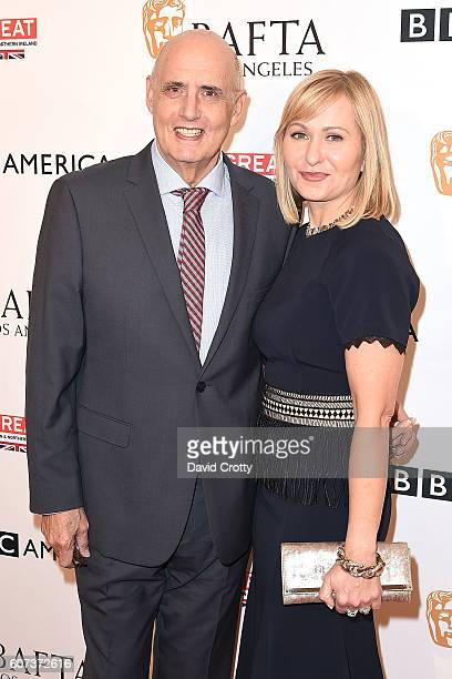 Jeffrey Tambor and Kasia Ostlun attend the BBC America & BAFTA Los Angeles TV Tea Party at Boxwood Restaurant at The London West Hollywood on...