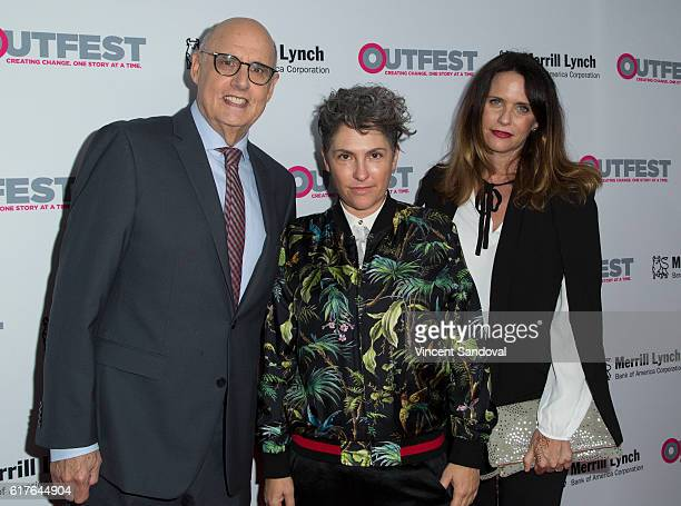 Jeffrey Tambor Jill Soloway and Amy Landecker attend the 12th Annual Outfest Legacy Awards at Vibiana on October 23 2016 in Los Angeles California