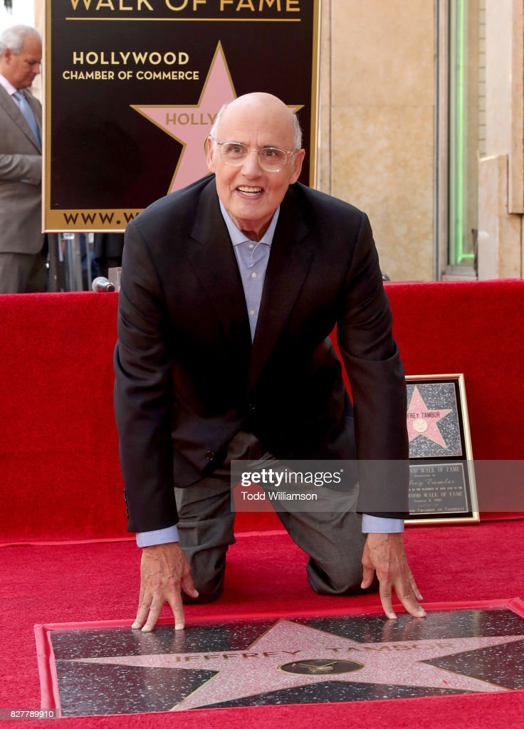 Jeffrey Tambor, star of the Amazon Prime Video Series Transparent, is honored with a star on the Hollywood Walk of Fame on August 8, 2017 in Hollywood, California.