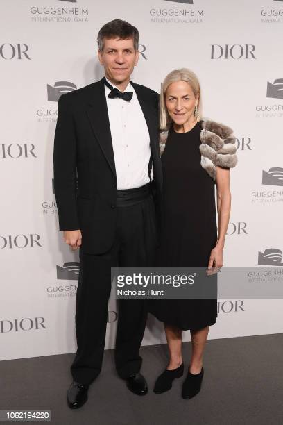 Jeffrey Thorpe and Lisa Thorpe attend the Guggenheim International Gala Dinner made possible by Dior at Solomon R Guggenheim Museum on November 15...