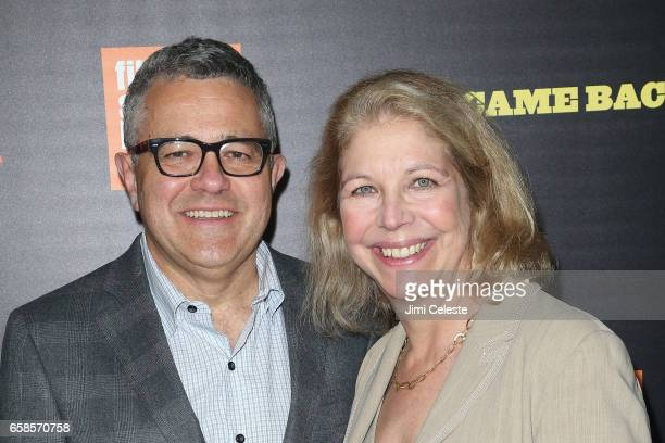 Jeffrey Toobin and Amy Bennett McIntosh attend the world Premiere of Five Came Back at Alice Tully Hall Lincoln Center on March 27 2017 in New York...