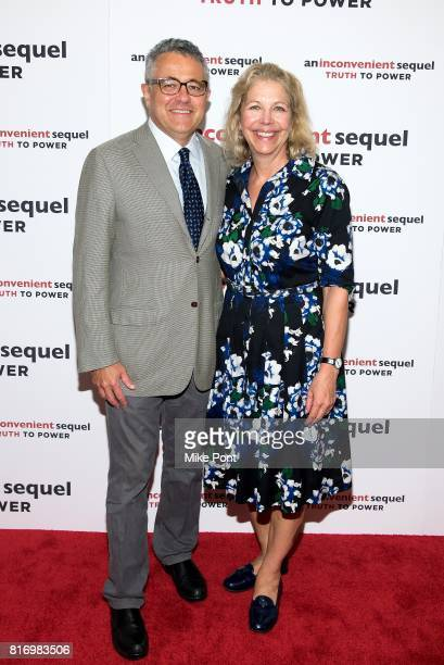 Jeffrey Toobin and Amy McIntosh attend An Inconvenient Sequel Truth to Power New York Screening at the Whitby Hotel on July 17 2017 in New York City