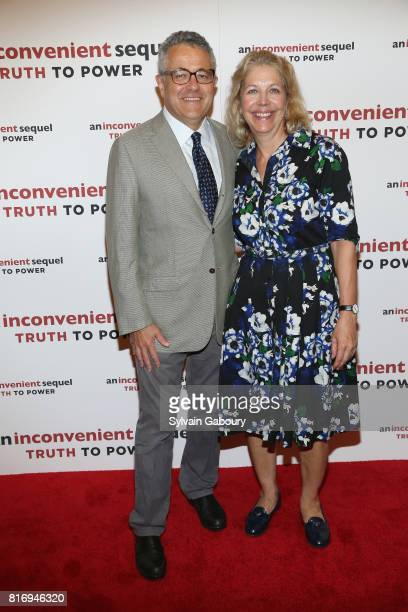 Jeffrey Toobin and Amy McIntosh attends An Inconvenient Sequel Truth To Power New York Screening at the Whitby Hotel on July 17 2017 in New York City