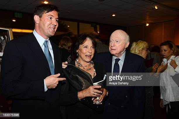 Jeffrey Vance Claire Bloom and Norman Lloyd attend the Academy of Motion Picture Arts and Sciences presentation of the 60th anniversary of Chaplin's...