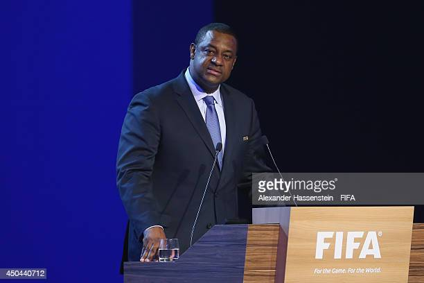 Jeffrey Webb FIFA VicePresident and Chairman of the Task Force against Racism and Discrimination speaks during the 64th FIFA Congress at TEC on June...