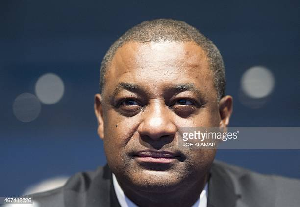 Jeffrey Webb President of CONCACAF and the Cayman Islands Football Association and FIFA Vice President attends the XXXIX Ordinary UEFA Congress in...