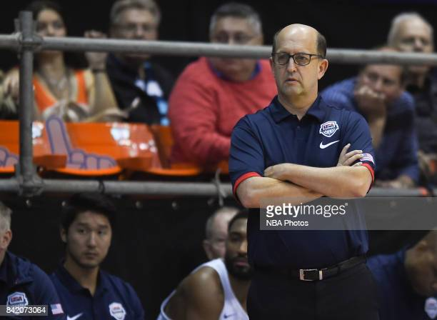 Jeffrey William Van Gundy coach of United States looks on during the FIBA Americup semi final match between US and Virgin Islands at Orfeo Superdomo...