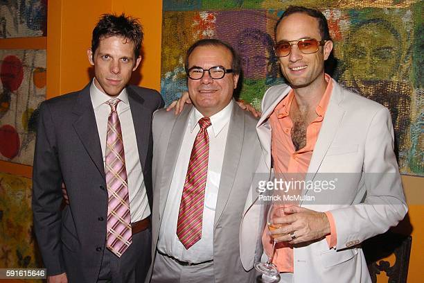 Jeffrey Witte Hunt Slonem and Andrew Boose attend Amendorg Founders' Dinner at Hunt Slonem Studio on June 30 2005 in New York City