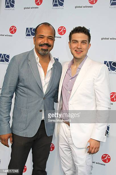 Jeffrey Wright and Alexander Soros attend The Alexander Soros Foundation's Global Witness 'Unmasked' Gala on July 7 2012 in Bridgehampton New York