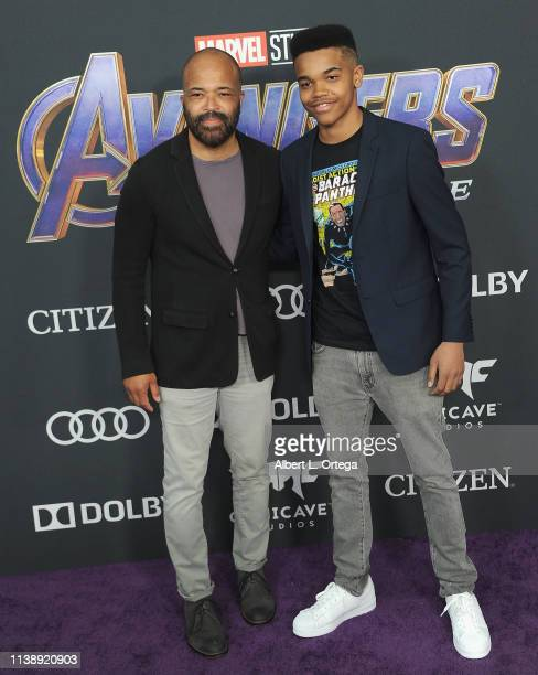 Jeffrey Wright and Elijah Wright arrive for the World Premiere Of Walt Disney Studios Motion Pictures Avengers Endgame held at Los Angeles Convention...