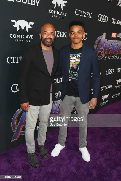 Jeffrey Wright and Elijah Wright attend Audi Arrives At The World Premiere Of Avengers Endgame on April 22 2019 in Hollywood California