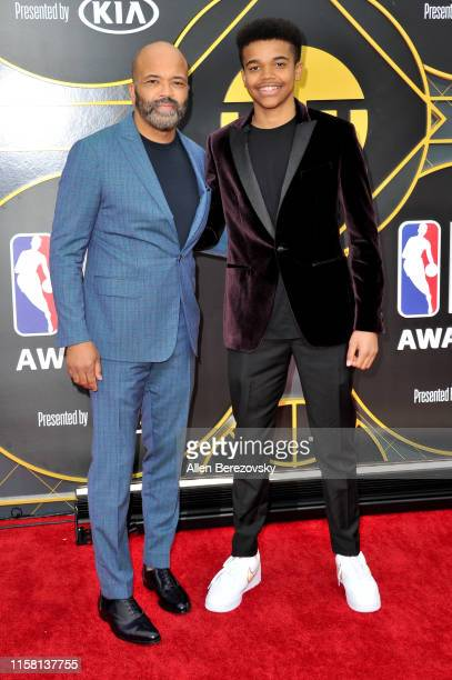 Jeffrey Wright and Elijah Wright attend the 2019 NBA Awards at Barker Hangar on June 24 2019 in Santa Monica California