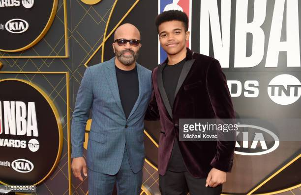 Jeffrey Wright and Elijah Wright attend the 2019 NBA Awards presented by Kia on TNT at Barker Hangar on June 24 2019 in Santa Monica California