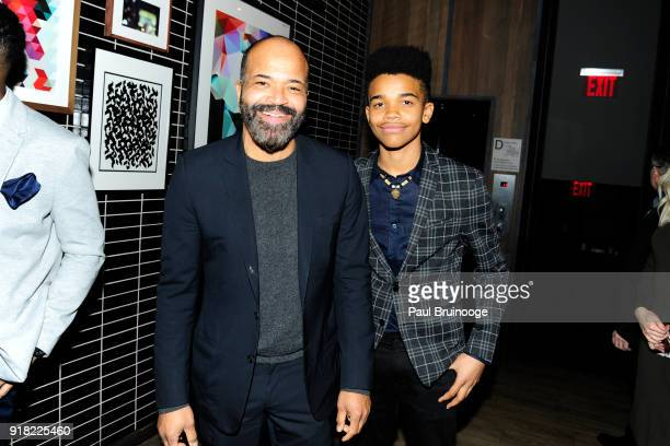 Jeffrey Wright and Elijah Wright attend The Cinema Society with Ravage Wines Synchrony host the after party for Marvel Studios' Black Panther at The...
