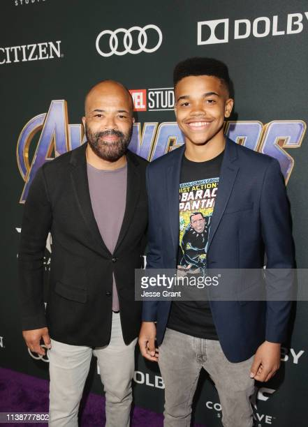 Jeffrey Wright and Elijah Wright attend the Los Angeles World Premiere of Marvel Studios' Avengers Endgame at the Los Angeles Convention Center on...