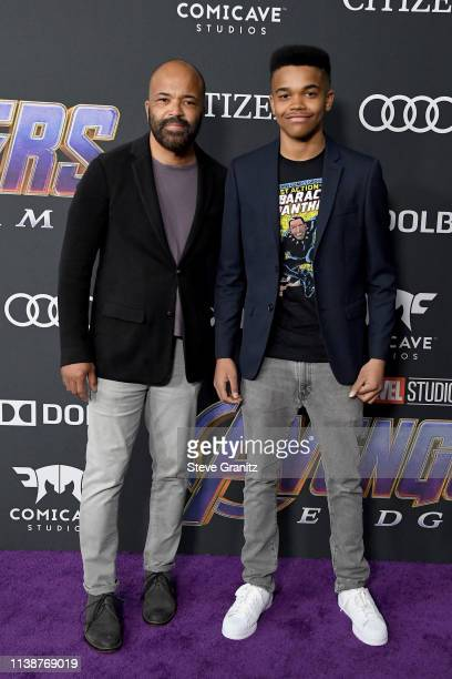 Jeffrey Wright and Elijah Wright attend the world premiere of Walt Disney Studios Motion Pictures Avengers Endgame at the Los Angeles Convention...