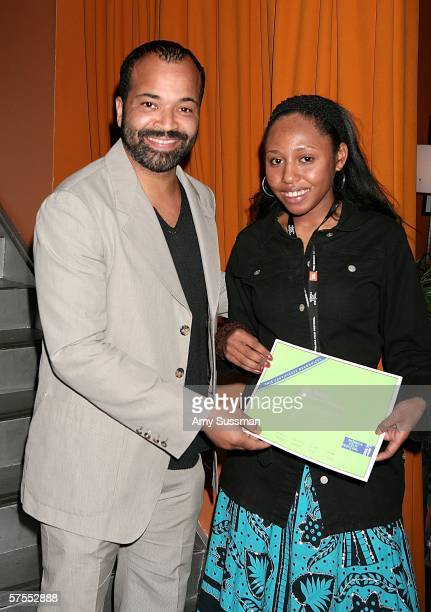 Jeffrey Wright and Fellow Kiri Davis attend Film Fellows Brunch at the 5th Annual Tribeca Film Festival held at Tribeca Cinemas May 7, 2006 in New...