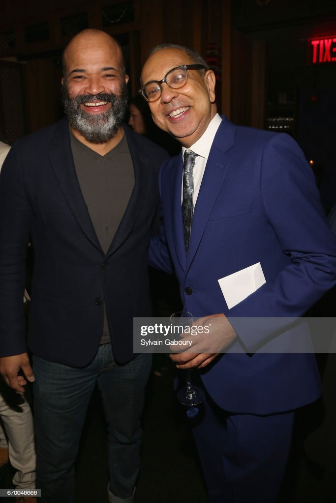 Jeffrey Wright and George C. Wolfe attend 'The Immortal Life Of Henrietta Lacks' New York Premiere - After Party at TAO Downtown on April 18, 2017 in New York City.