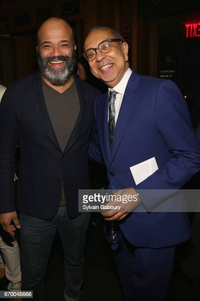Jeffrey Wright and George C Wolfe attend 'The Immortal Life Of Henrietta Lacks' New York Premiere After Party at TAO Downtown on April 18 2017 in New...