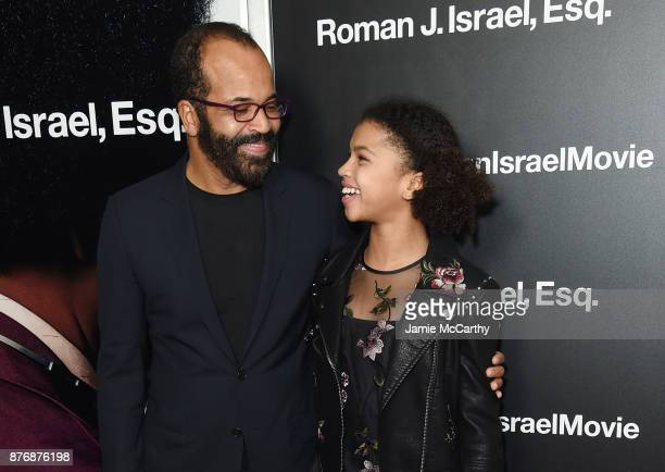 Jeffrey Wright and his daughter Juno Wright attend the screening of Roman J Israel Esq at Henry R Luce Auditorium at Brookfield Place on November 20...