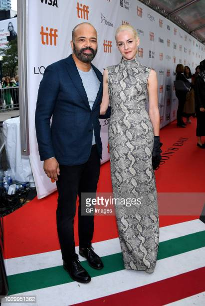 Jeffrey Wright and Jena Malone attend the The Public premiere during 2018 Toronto International Film Festival at Roy Thomson Hall on September 9 2018...