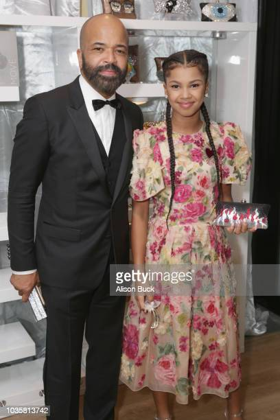 Jeffrey Wright and Juno Wright attend Backstage Creations Giving Suite At The 70th Emmy Awards at Microsoft Theater on September 17 2018 in Los...