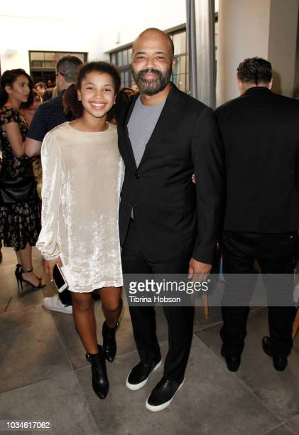 Jeffrey Wright and Juno Wright attend Los Angeles Confidential Emmys Celebration with Elisabeth Moss on September 16 2018 in Los Angeles California