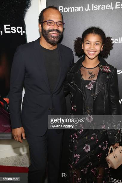 Jeffrey Wright and Juno Wright attend Roman J Israel Esquire New York Premiere on November 20 2017 in New York City