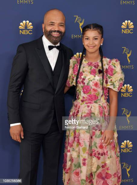 Jeffrey Wright and Juno Wright attend the 70th Emmy Awards at Microsoft Theater on September 17 2018 in Los Angeles California