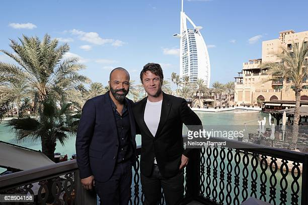 Jeffrey Wright and Luke Hemsworth pose during a portrait session on day four of the 13th annual Dubai International Film Festival held at the Madinat...
