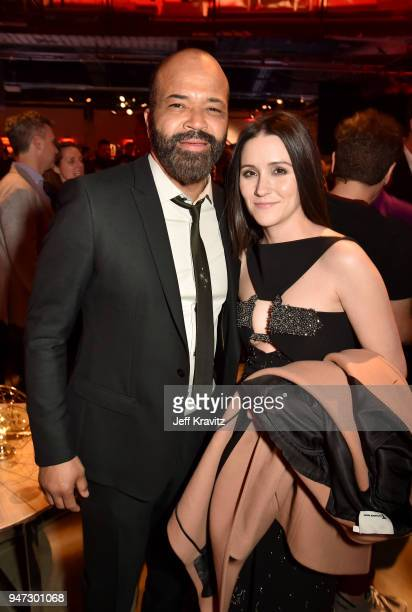Jeffrey Wright and Shannon Woodward attend the Los Angeles Season 2 premiere of the HBO Drama Series WESTWORLD at The Cinerama Dome on April 16 2018...