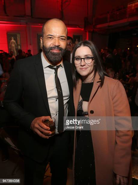 Jeffrey Wright and Shannon Woodward attend the Premiere of HBO's Westworld Season 2 After Party on April 16 2018 in Los Angeles California