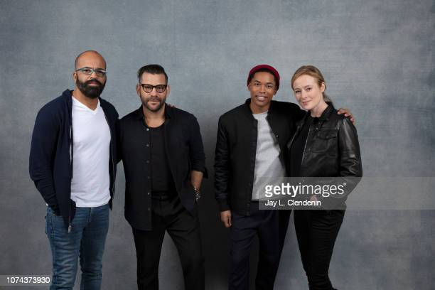 """Jeffrey Wright, Anthony Mandler, Kelvin Harrison Jr. And Jennifer Ehle from """"Monster are photographed for Los Angeles Times on January 21, 2018 in..."""