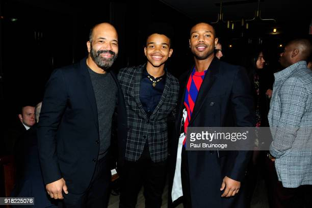 Jeffrey Wright Elijah Wright and Michael B Jordan attend The Cinema Society with Ravage Wines Synchrony host the after party for Marvel Studios'...