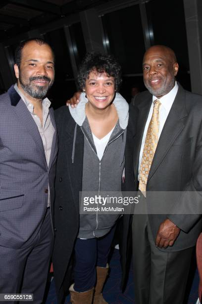 Jeffrey Wright Erinn Cosby and Howard Bingham attend HOWARD BINGHAM to be Honored with the OUR TIME AWARD at Jack H Skirball Center for the...