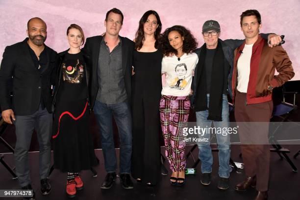 Jeffrey Wright Evan Rachel Wood Jonathan Nolan Joy Nolan Thandie Newton Ed Harris and James Marsden attend the FYC Event for HBO's WESTWORLD Season 2...