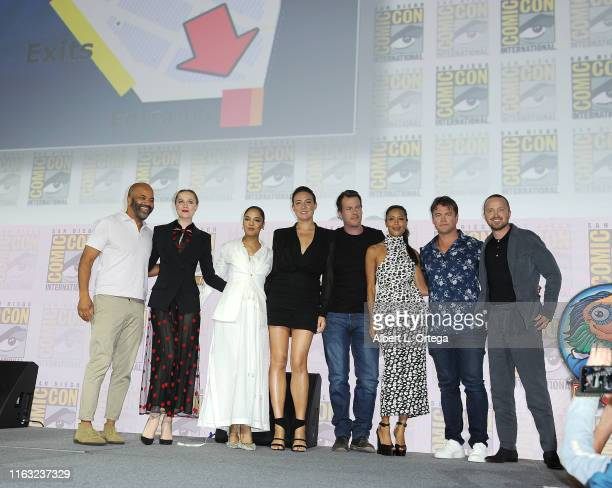 Jeffrey Wright Evan Rachel Wood Tessa Thompson Lisa Joy Jonathan Nolan Thandie Newton and Luke Hemsworth and Aaron Paul attend the Westworld III...