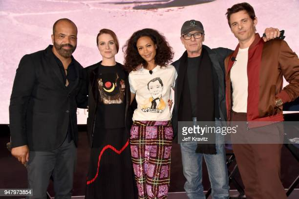 Jeffrey Wright Evan Rachel Wood Thandie Newton Ed Harris and James Marsden attend the FYC Event for HBO's WESTWORLD Season 2 at ArcLight Cinemas...