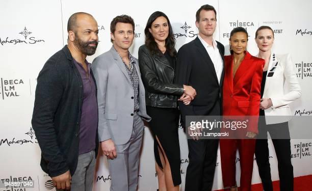 Jeffrey Wright James Marsden Lisa Joy Jonathan Nolan Thandie Newton and Evan Rachel Wood attend Westworld during the 2018 Tribeca Film Festival at...
